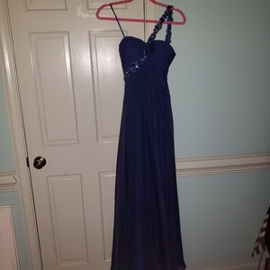 Navy blue prom dress size 2 euc